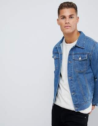 Burton Menswear denim jacket in light blue wash
