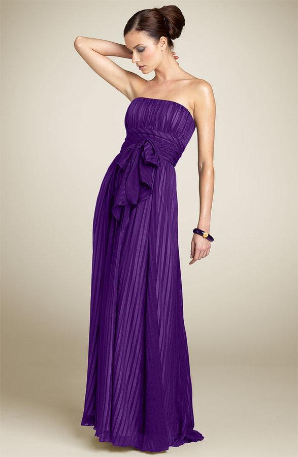 BCBGMAXAZRIA Strapless Silk Gown