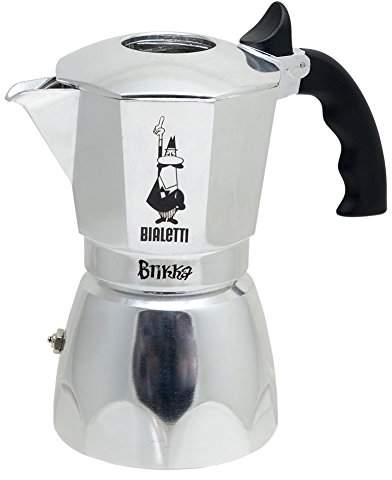 Bialetti Brikka 4 Cup Espresso Maker with Cream Valve