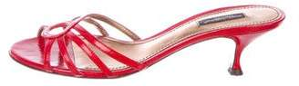 Dolce & Gabbana Patent Leather Slide Sandals