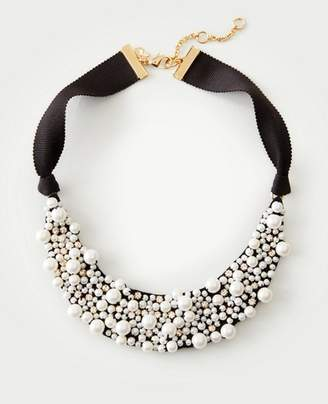 Ann Taylor Pearlized Fabric Necklace