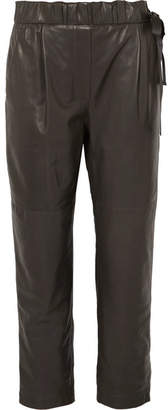 Brunello Cucinelli Leather Pants - Gray