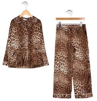 Dolce & Gabbana Girls' Silk Pajama Set w/ Tags