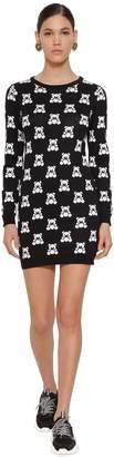 Moschino Fantasy Cotton Knit Mini Dress
