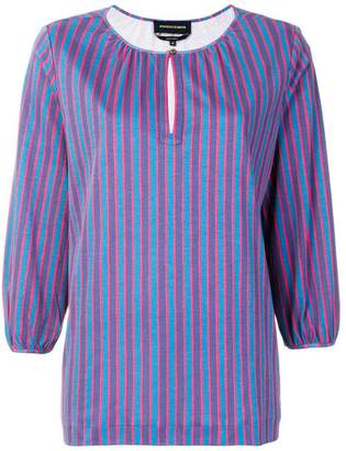 Vanessa Seward striped 3/4 sleeve blouse