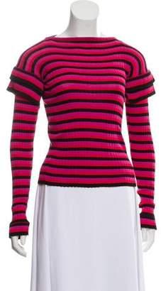 Philosophy di Lorenzo Serafini Rib Knit Striped Sweater