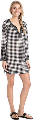 Vineyard Vines Embellished Gingham Cover-Up