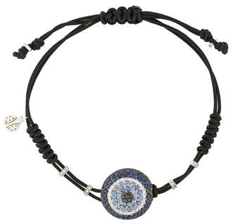 Pippo Perez 18kt white gold, diamond and sapphire Evil Eye charm bracelet