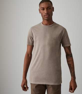 Reiss HEATH GARMENT DYED T-SHIRT Soft Grey