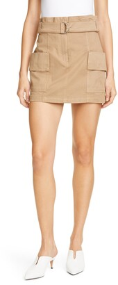 A.L.C. Mia Stretch Cotton Miniskirt