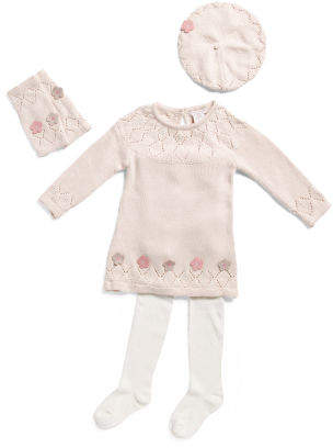 Infant Girls Sweater Dress With Leg Warmers