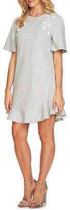 CeCe Short-Sleeve Embellished Mini Dress