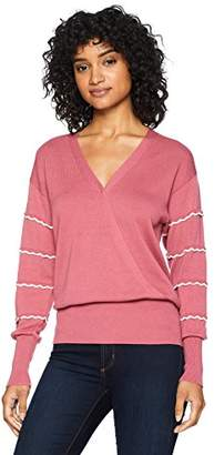 Cable Stitch Women's Wrap Front Sweater