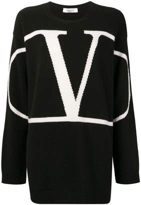 Valentino Go logo oversized sweater