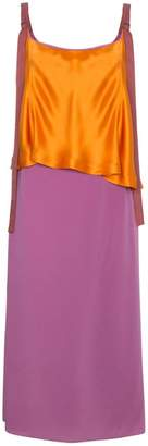 Sies Marjan Silk colour block strappy dress