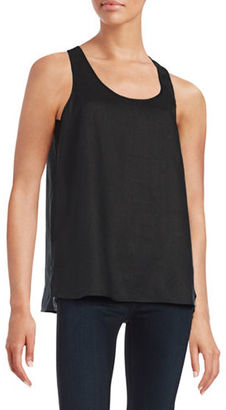 Lord & Taylor Linen Keyhole Tank $68 thestylecure.com