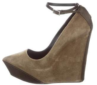 Theyskens' Theory Suede Platform Wedges