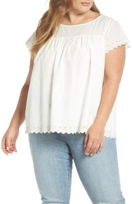 Caslon Embroidered Top