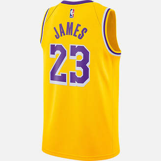 Nike Men's Los Angeles Lakers NBA LeBron James Icon Edition Connected Jersey