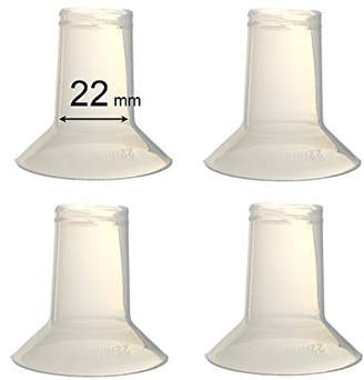 Ameda Maymom Breast Pump Reducing Flanges for Purely Yours Breast Pump, BPA Free, 22 mm - 4 Pack