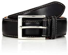 Harris Men's Contrast-Stitched Belt-Black