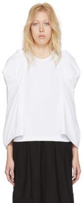 Comme des Garcons White Sculpted Sleeve T-Shirt