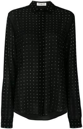 Saint Laurent polka dot sheer shirt