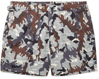 f303615a08 Tom Ford Mid-Length Camouflage-Print Swim Shorts - Men - Gray
