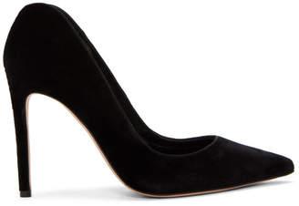 Alexander McQueen Black Velvet Pointed Heels