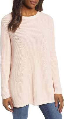 Caslon Tie Back Tunic Sweater