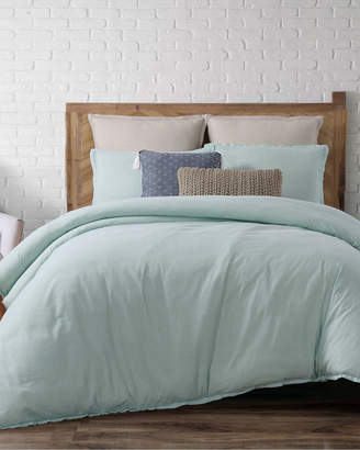 LOFT Brooklyn Loom Chambray Aqua Comforter Set