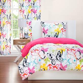 Crayola Flutterby Reversible Comforter With Sham Set