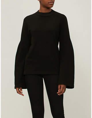 Stateside Flared-sleeve cotton-jersey sweatshirt