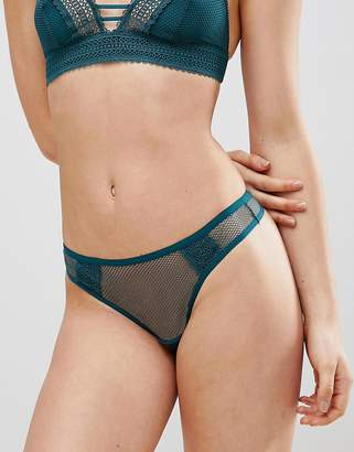 New Look Geo Lace Trim Thong