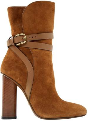 Gucci Camel Suede Ankle boots