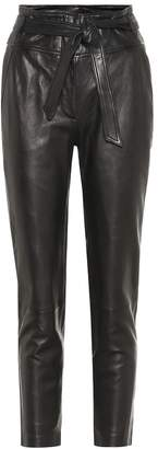 Veronica Beard Faxon high-rise leather pants