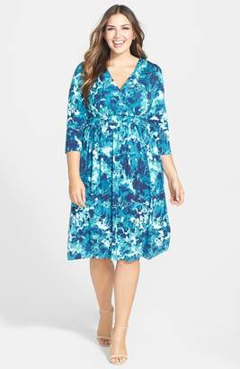 Tart Print Surplice Bodice Dress