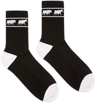 Bally Men's Animals Tube Socks, Black