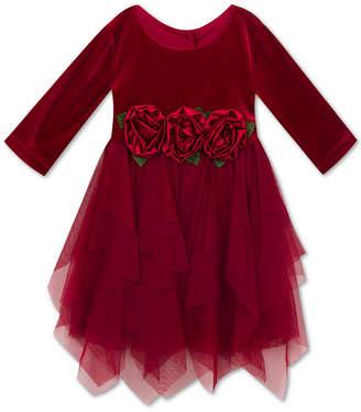 Rare Editions Little Girls Velvet Party Dress