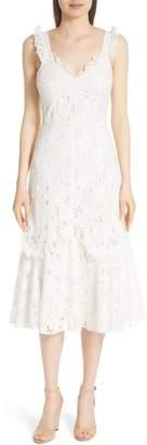 Rebecca Taylor Adriana Eyelet Midi Dress