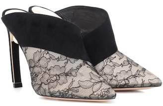 Nicholas Kirkwood Mira Pearl lace and velvet mule