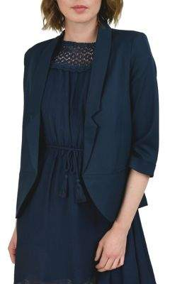Molly Bracken Three-Quarter Sleeve Open Blazer