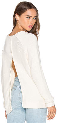 LA Made Eve Zip Back Sweater in Ivory $105 thestylecure.com
