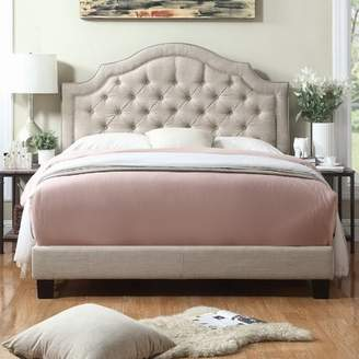 Laurèl Foundry Modern Farmhouse Chugwater Tufted Upholstered Panel Bed