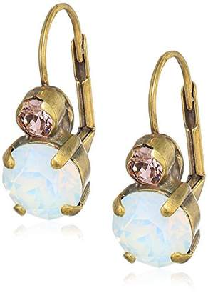 Sorrelli Women's Round Crystal French Wire Drop Earrings