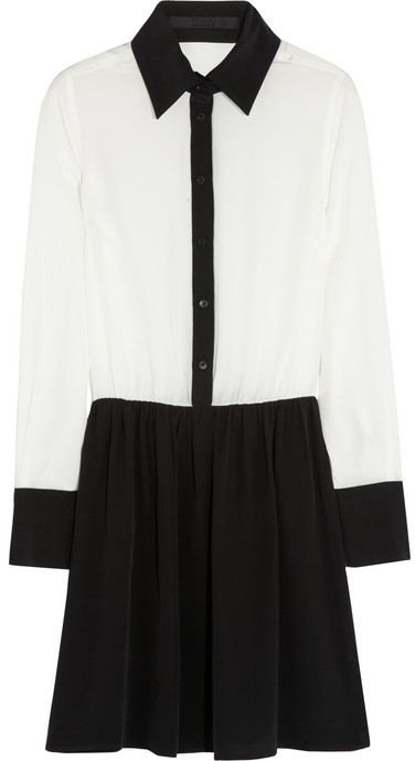 Karl Lagerfeld Derman washed-silk shirt dress