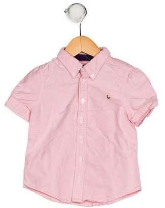 Ralph Lauren Girls' Button-Up Shirt