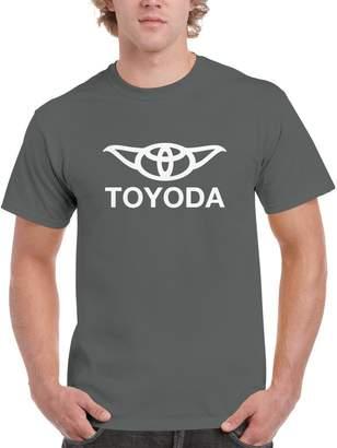 Star Wars Blue Bubble Tees BBT Mens Toyoda - Yoda and Toyota T-Shirt Tee XL