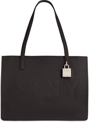 DKNY Commuter Pebble Leather Logo Tote