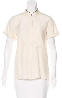 Apiece Apart Short Sleeve Silk Blouse w/ Tags